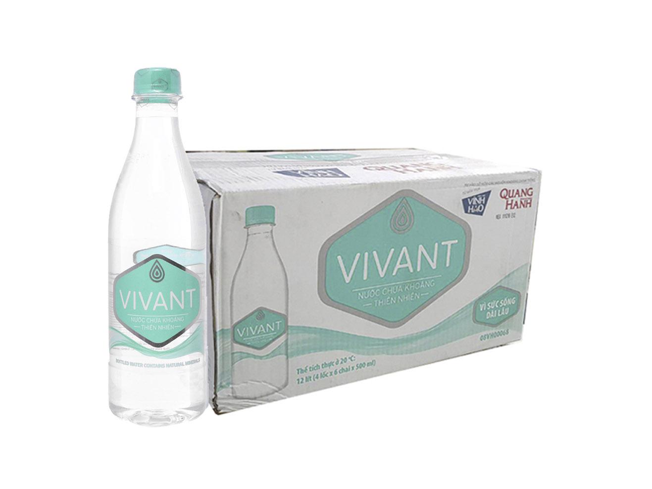 Nước suối vivant 500ml thùng 24 chai thiết kế sang trọng, hiện đại